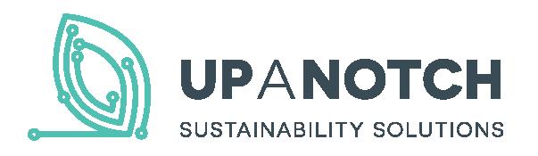 Up A Notch Sustainability Solutions Ltd. Leaf Logo