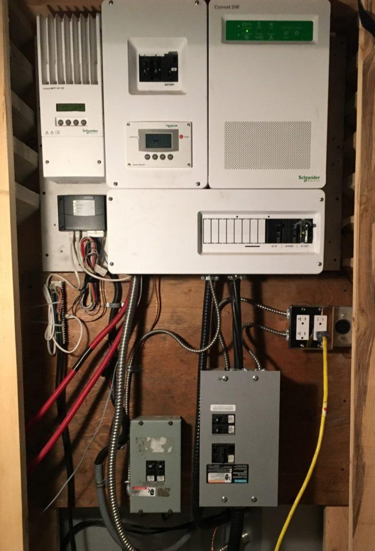 Fully Off-Grid Conext Solar Hybrid converter, 1500 watt solar, Backup generator.